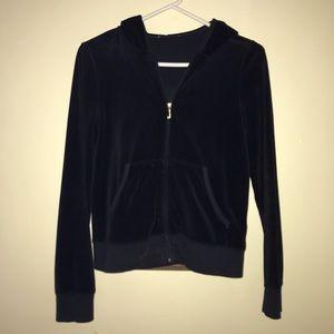 Juicy Couture logo zip hoodie